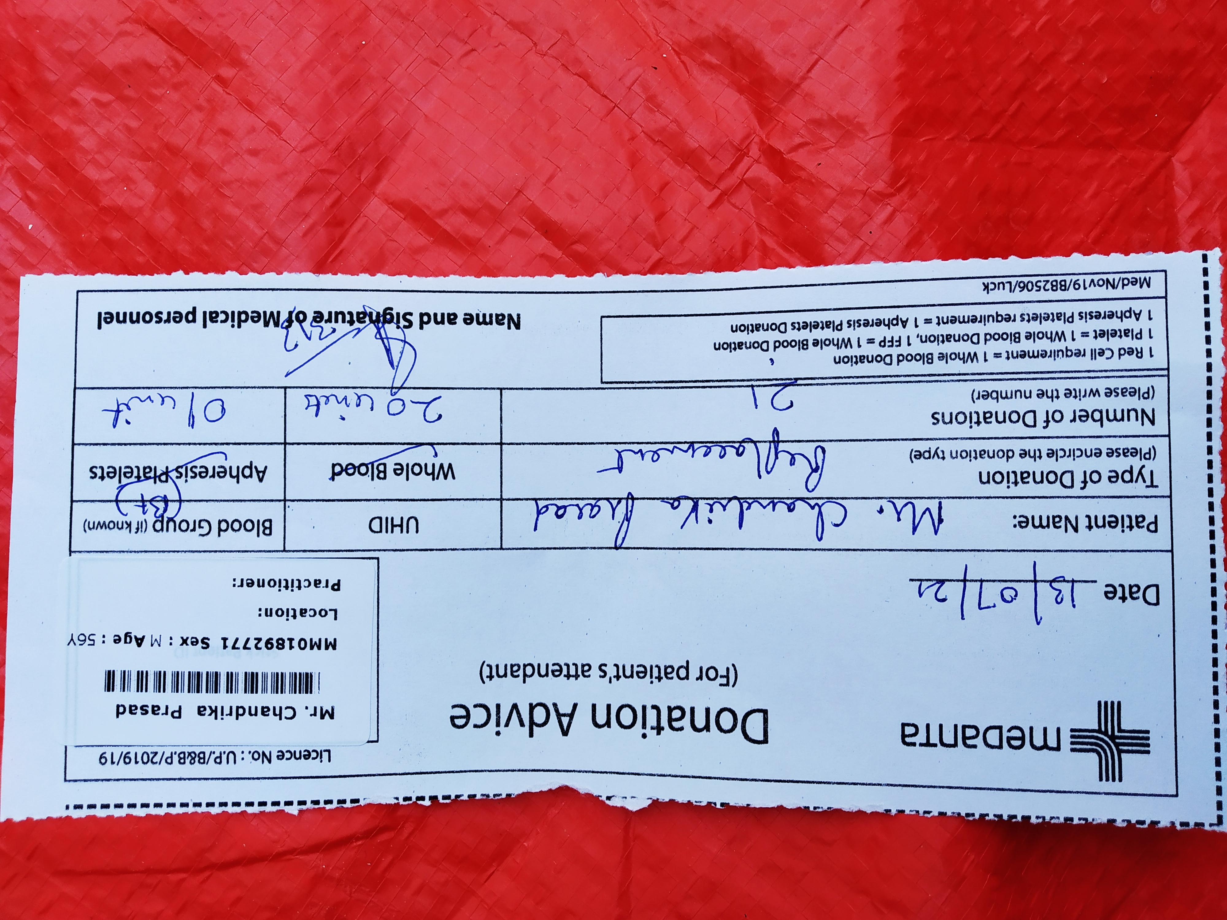 need B+ve blood near Medanta lucknow  Uttar Pradesh