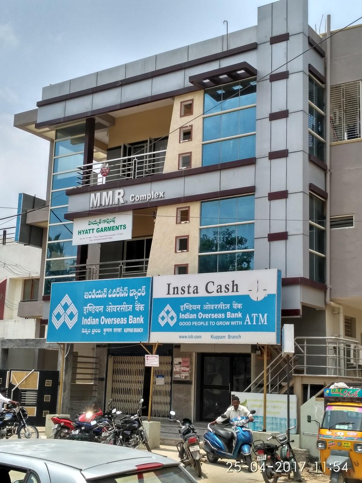 blood bank Indian Overseas Bank near Kuppam Andhra Pradesh