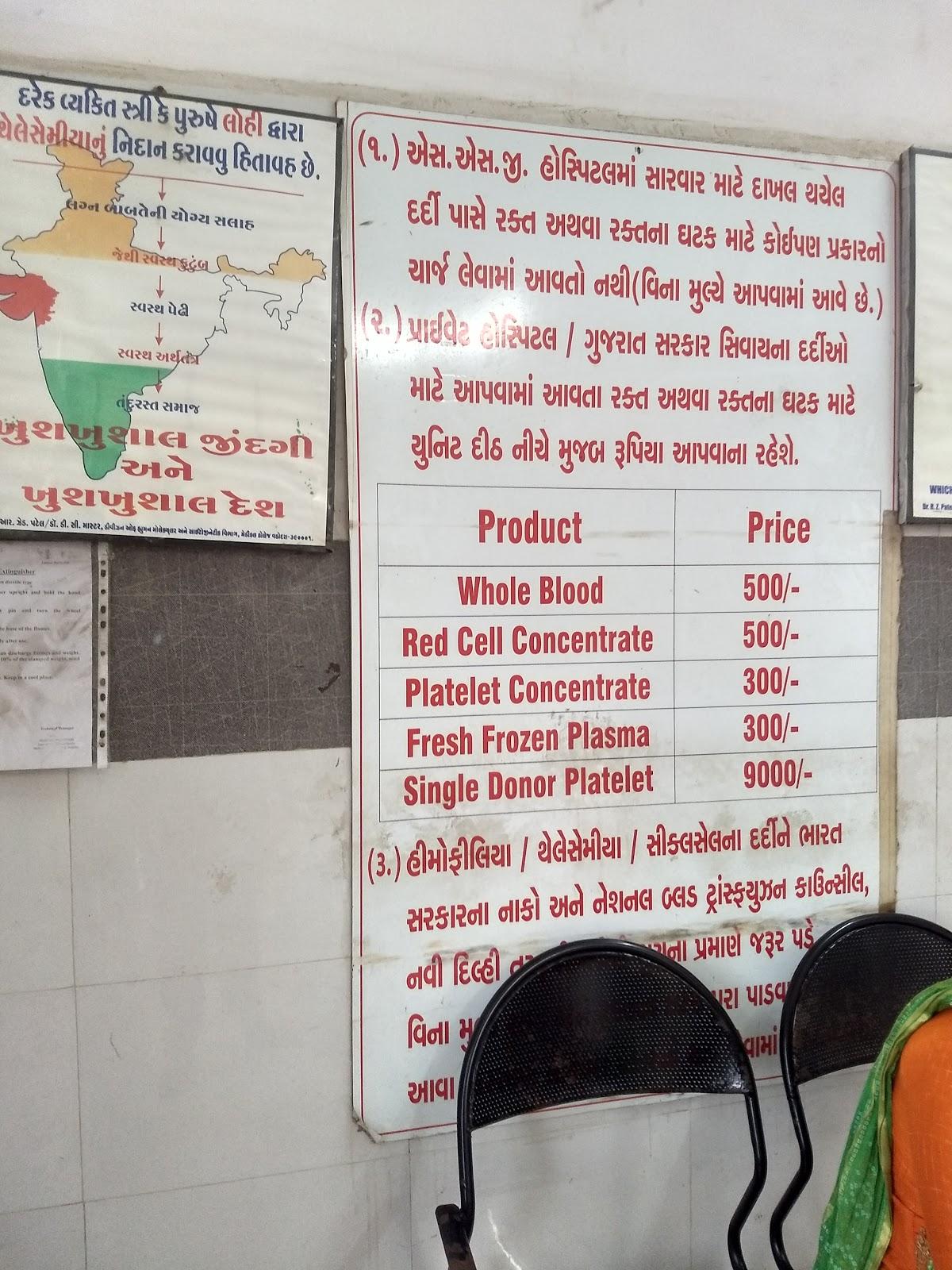 blood bank Blood Bank near Vadodara Gujarat