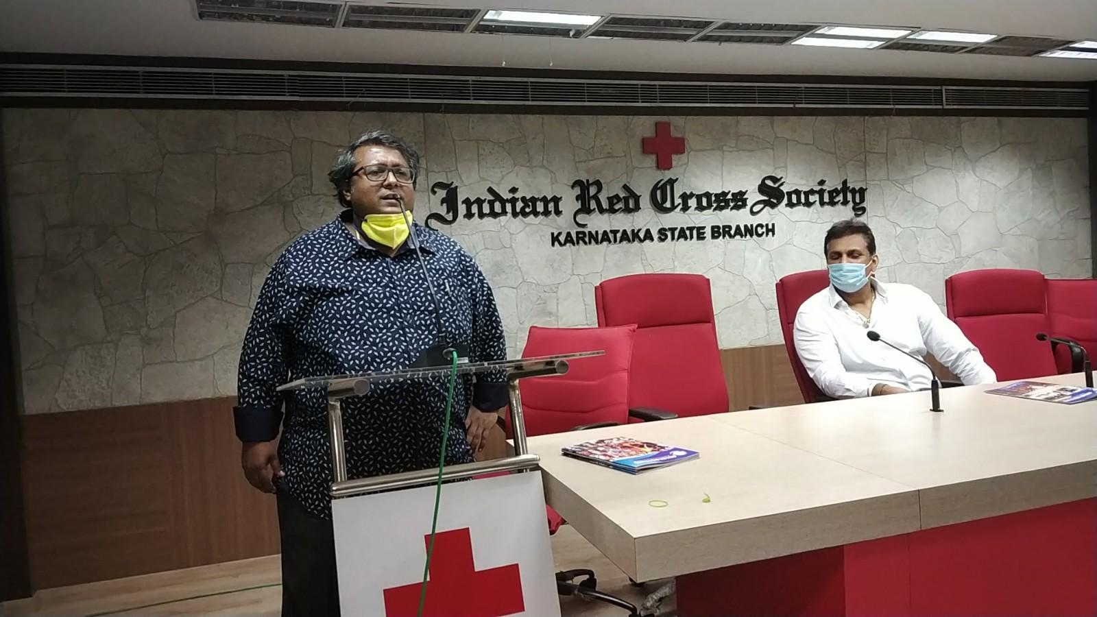 blood bank Indian Red Cross Society near Halasuru Karnataka